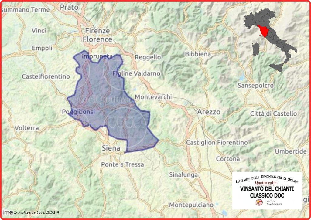 Cartina Vin Santo del Chianti Classico DOC