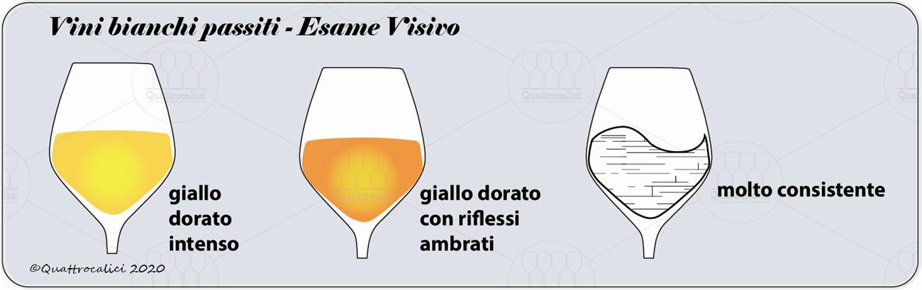 vini bianchi passiti degustazione visivo