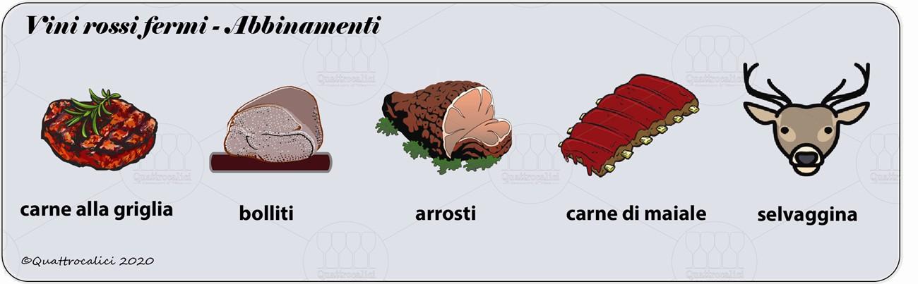 vini rossi fermi degustazione abbinamenti