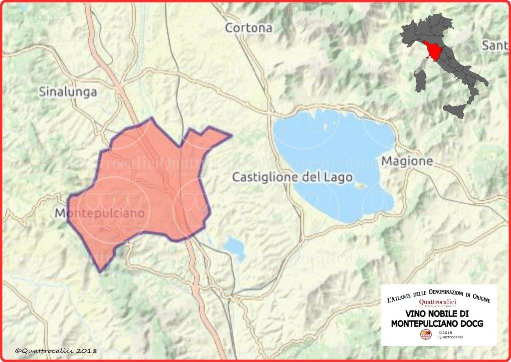 Vino Nobile di Montepulciano DOCG cartina