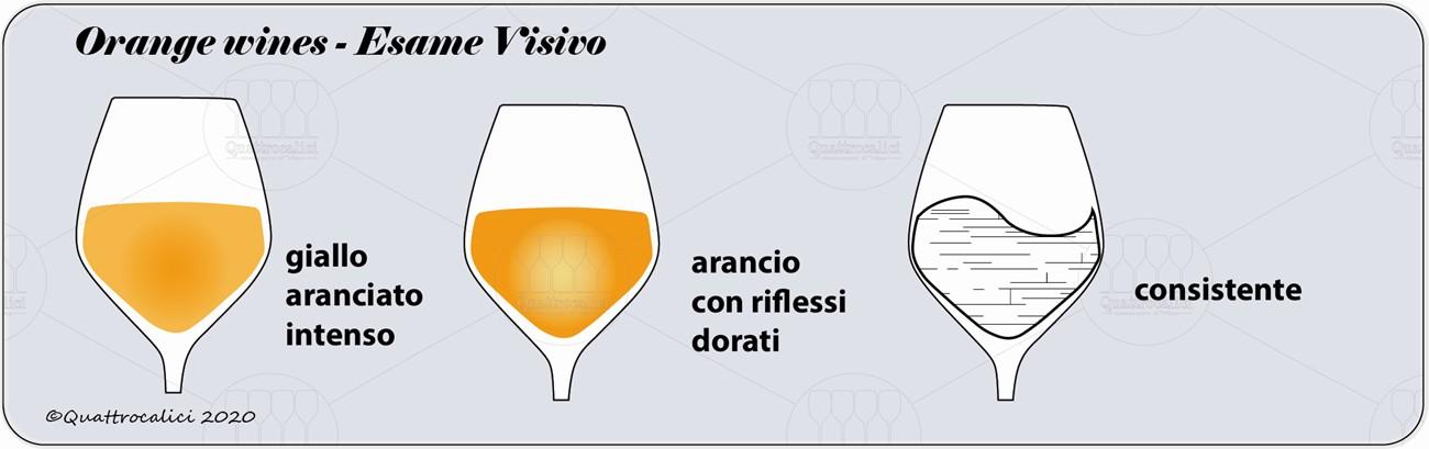 degustazione orange wines visivo