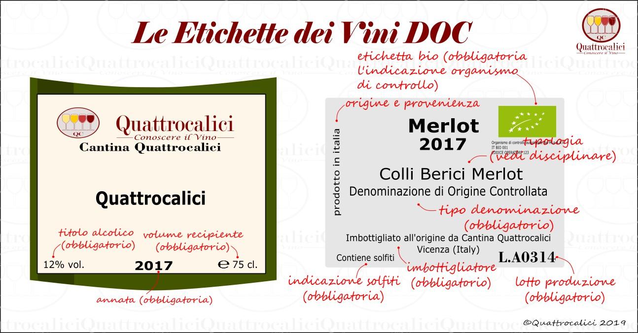 etichetta vini doc