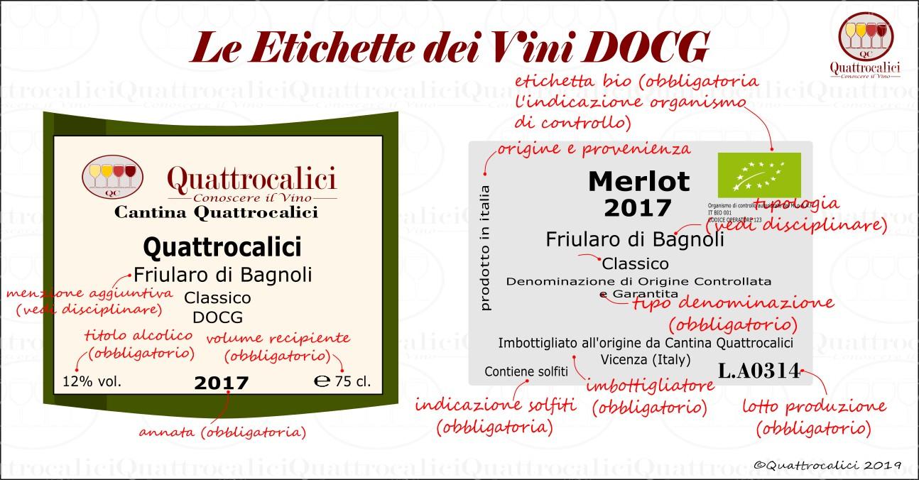 etichetta vini docg