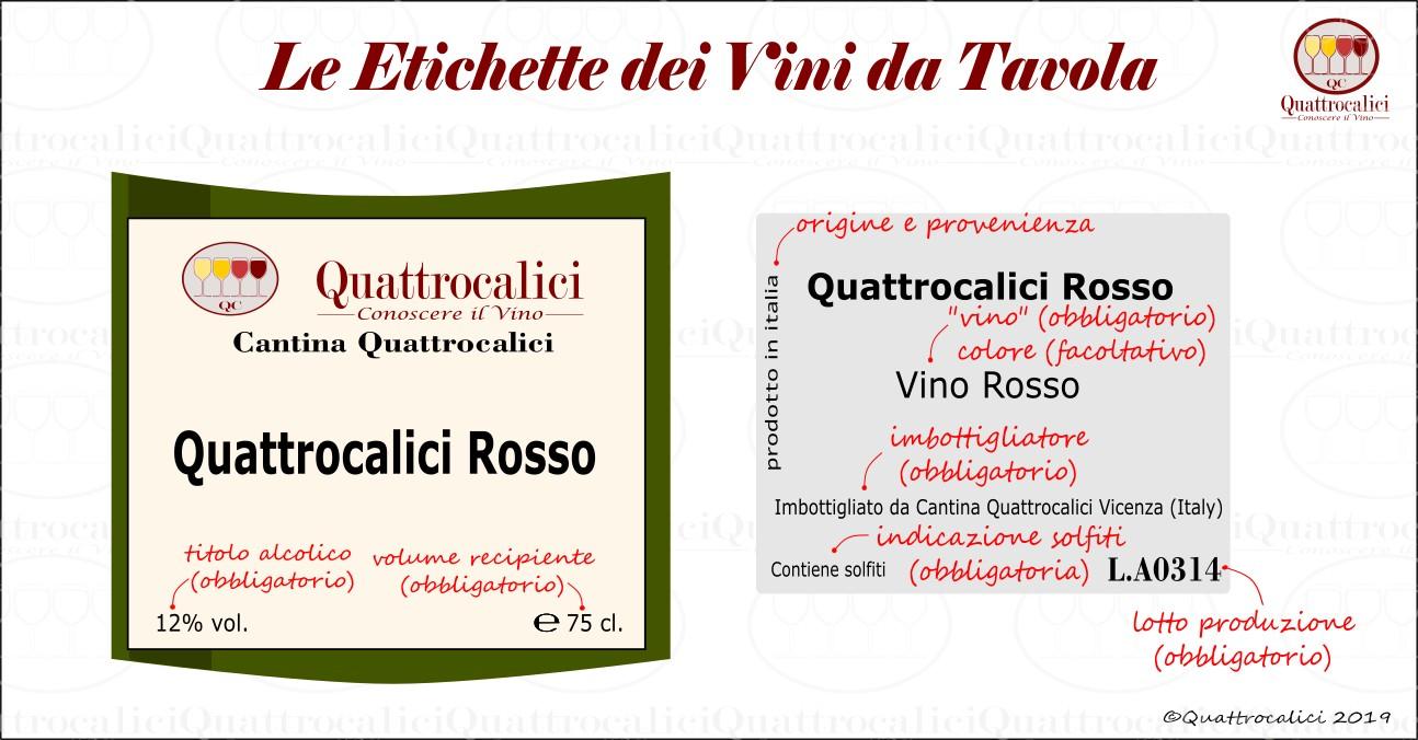 etichetta vini da tavola