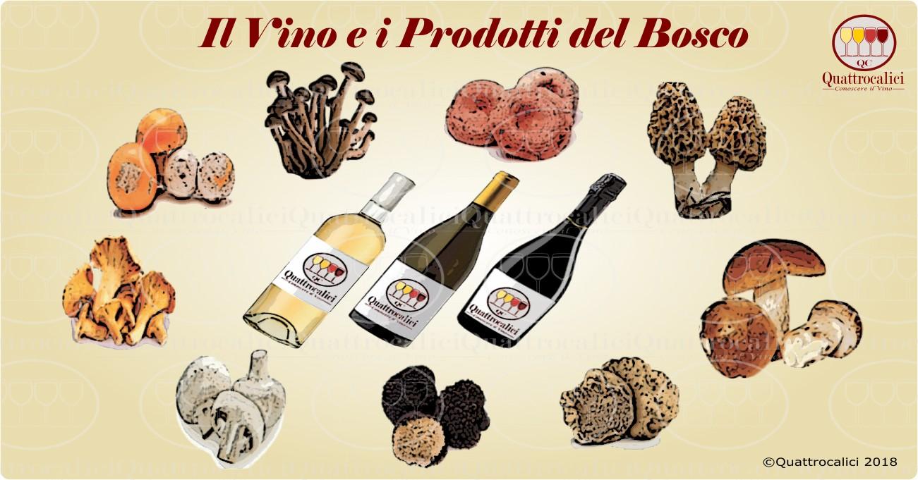 abbinamento vino con funghi e tartufi