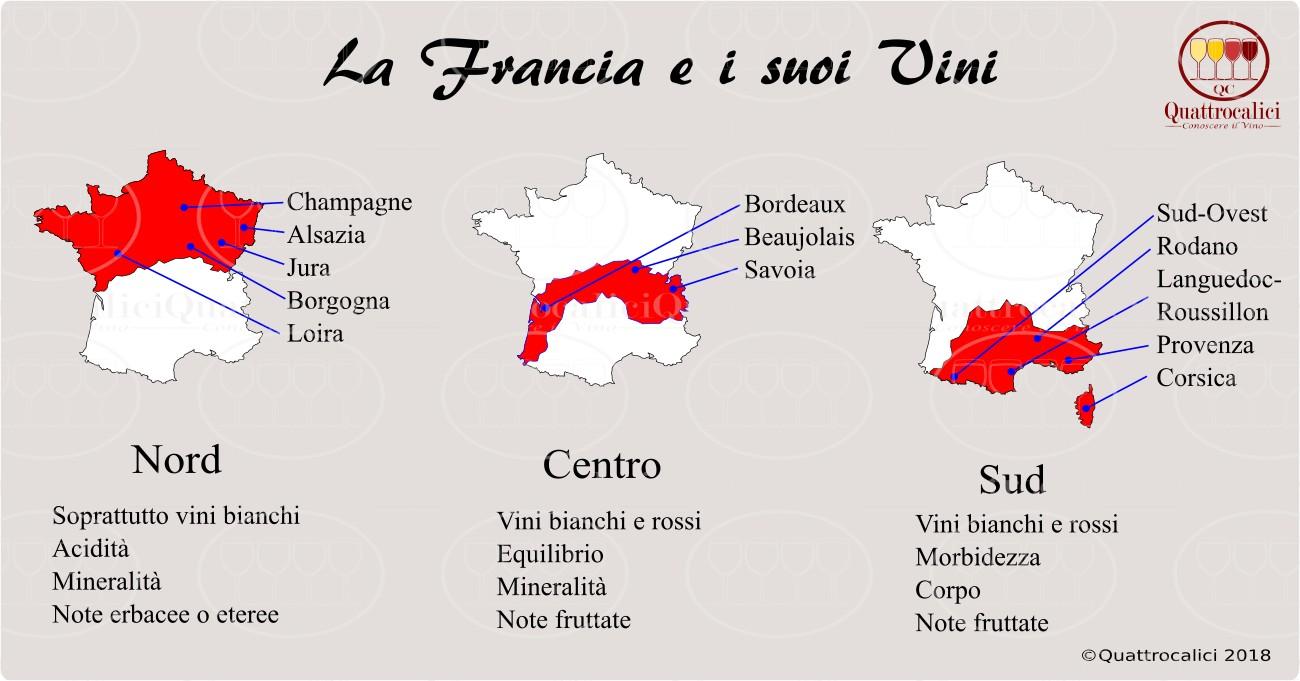 Cartina Vini Francia.La Francia E Il Vino I Vini Francesi Nel Dettaglio