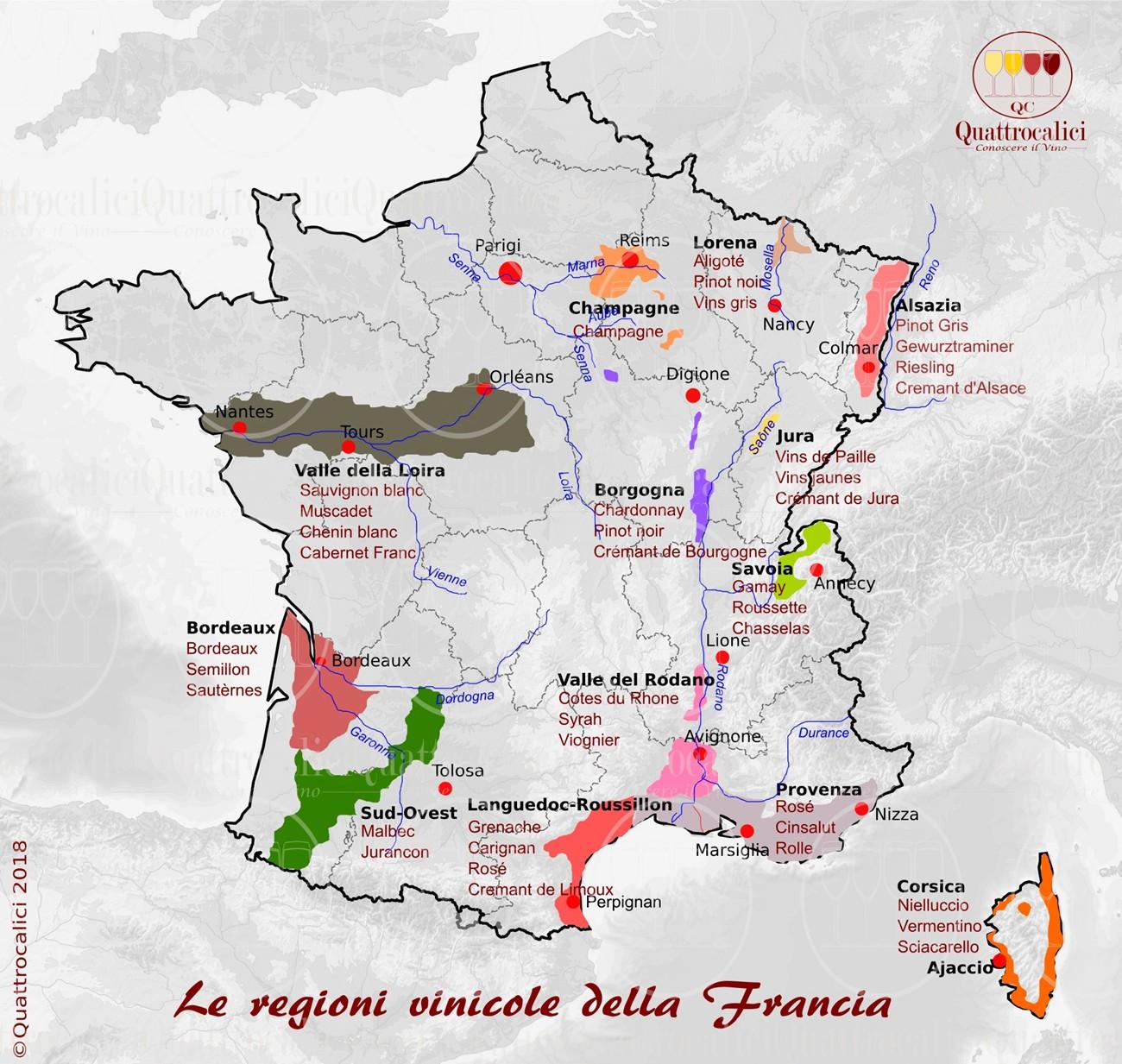 Francia - Regioni del vino