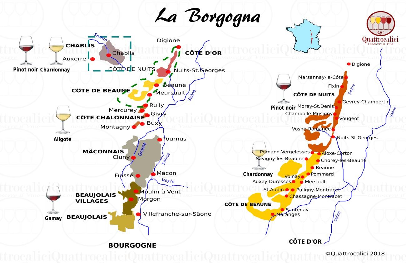 borgogna - le zone del vino