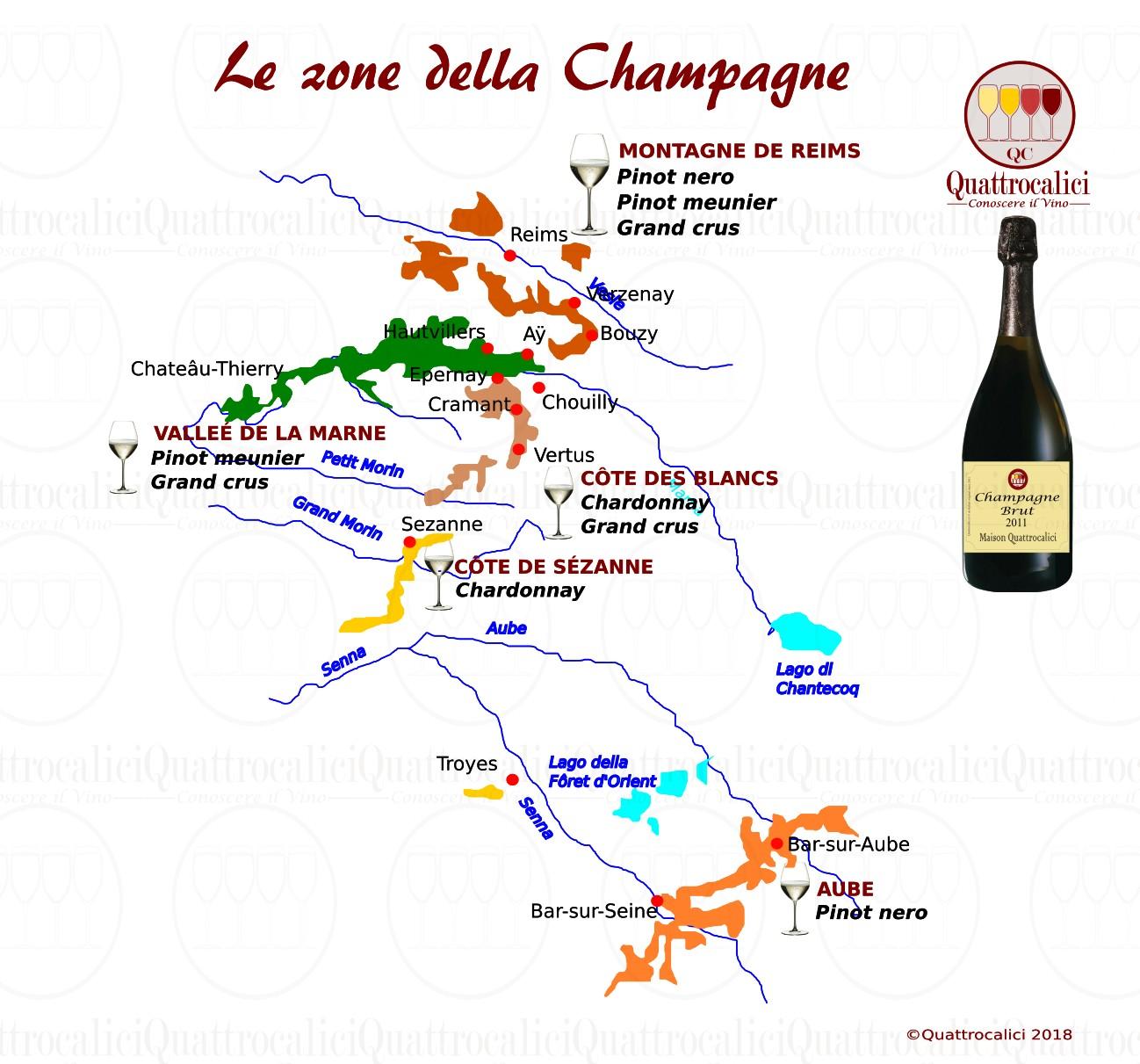 champagne - zone di produzione