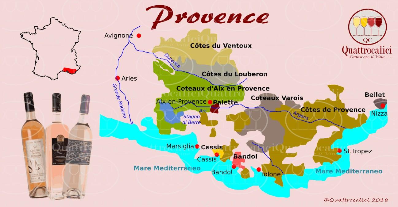 Cartina Vini Francia.Provenza Conoscere Il Vino Quattrocalici