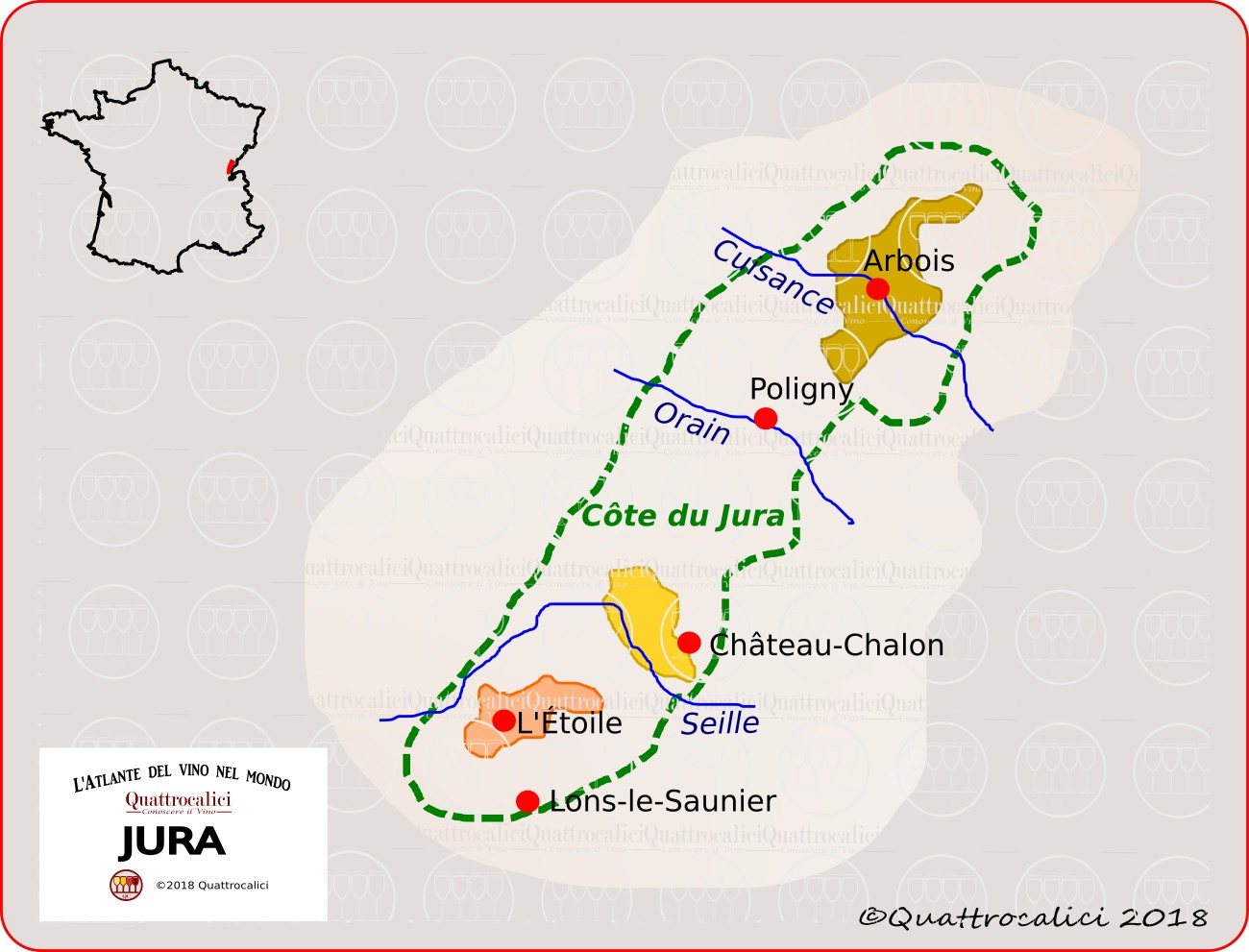 jura - zone di produzione del vino
