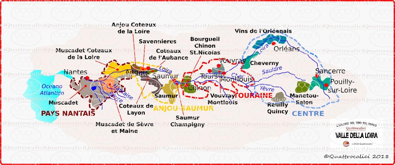 Cartina Geografica Della Loira Francia.Valle Della Loira Quattrocalici Conoscere Il Vino