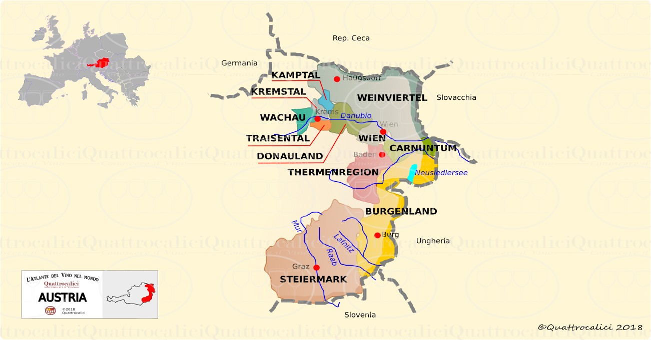 austria wine map