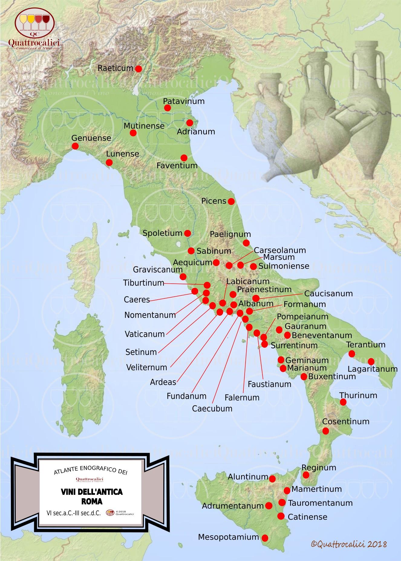 Carta dei vini della Roma antica