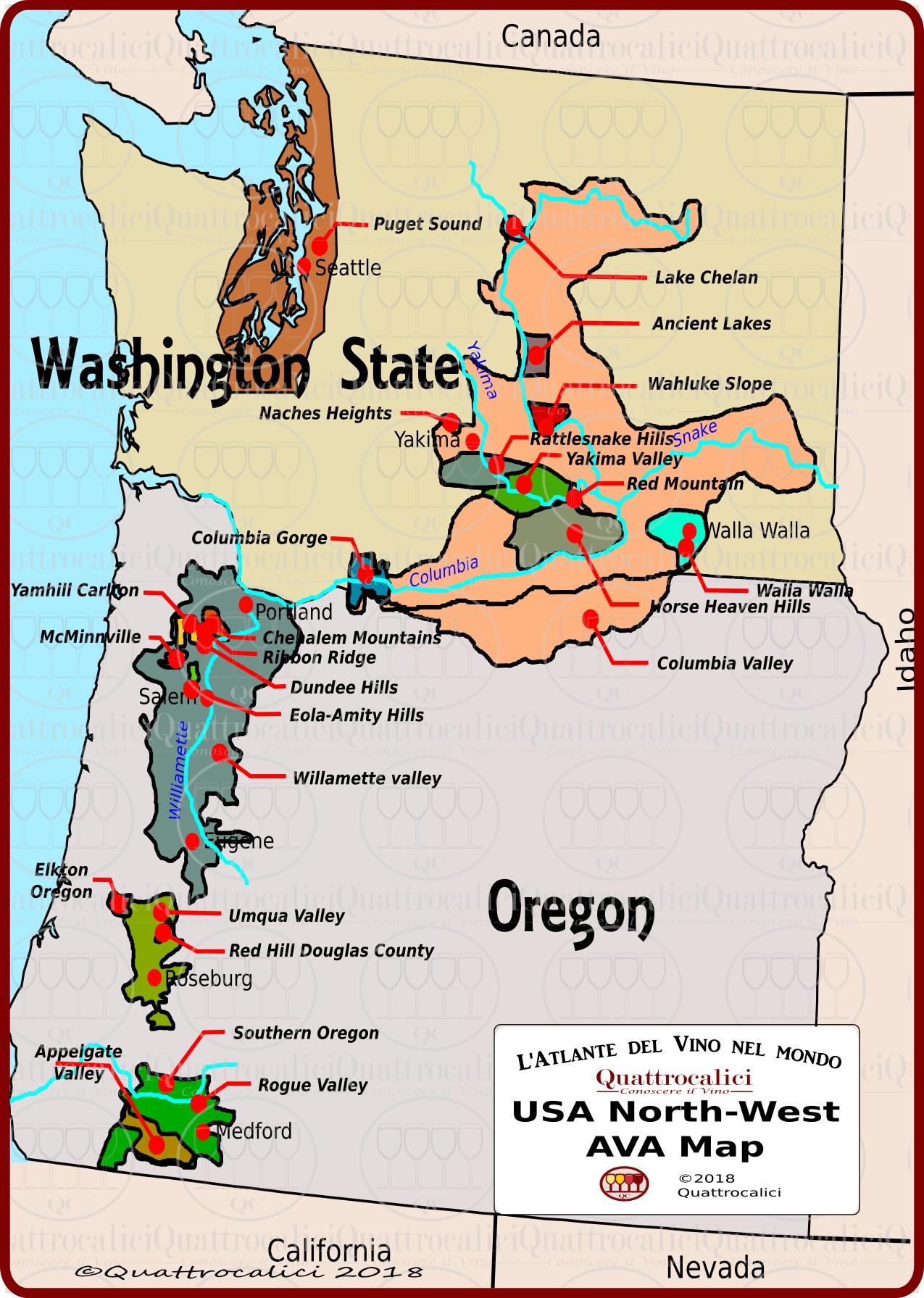 Il vino in America: Il Nord Ovest