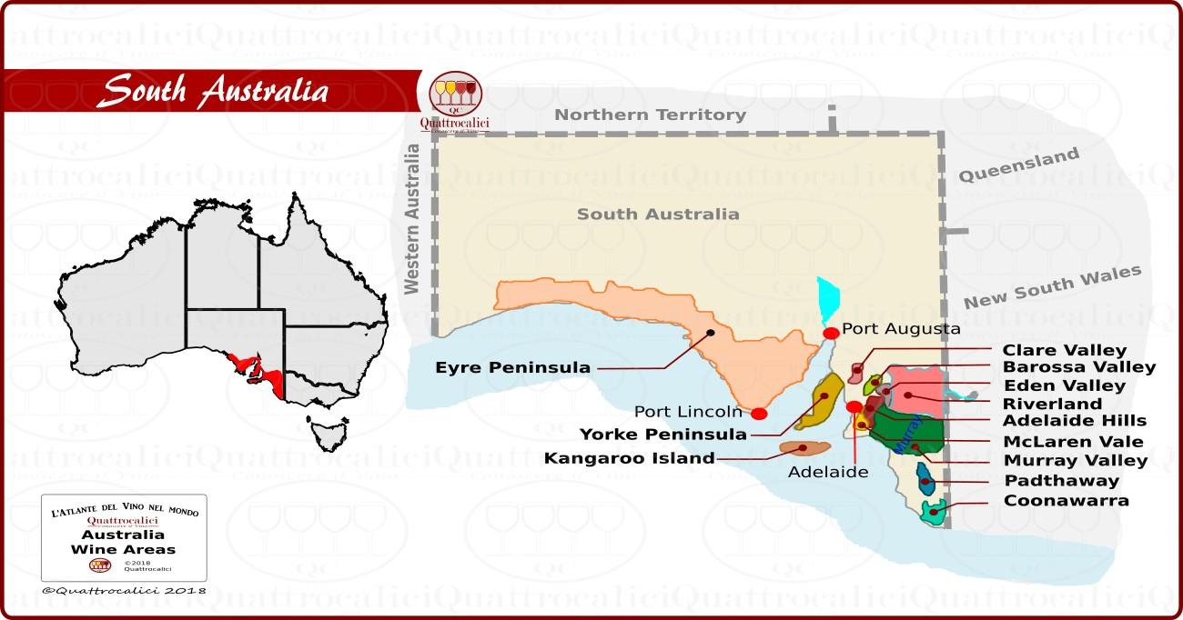 I vini dell'Australia del sud