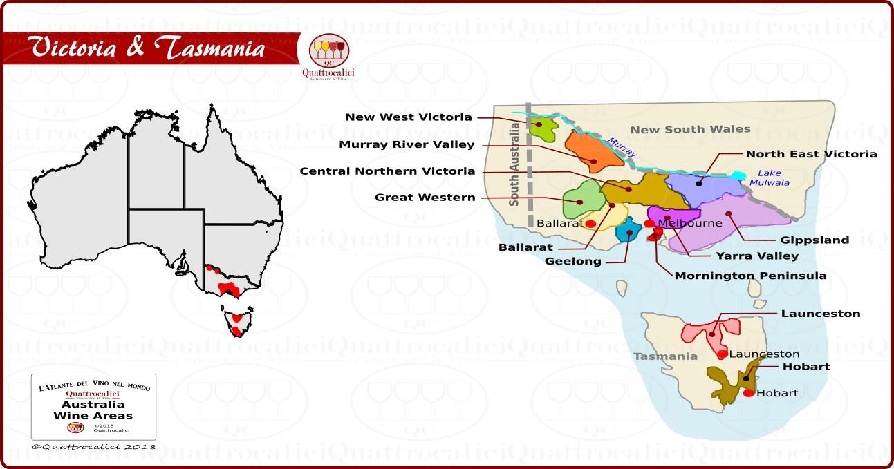 I vini dello stato di Victoria e della Tasmania