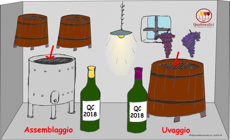 uvaggio e assemblaggio dei vini