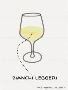 I vini bianchi leggeri