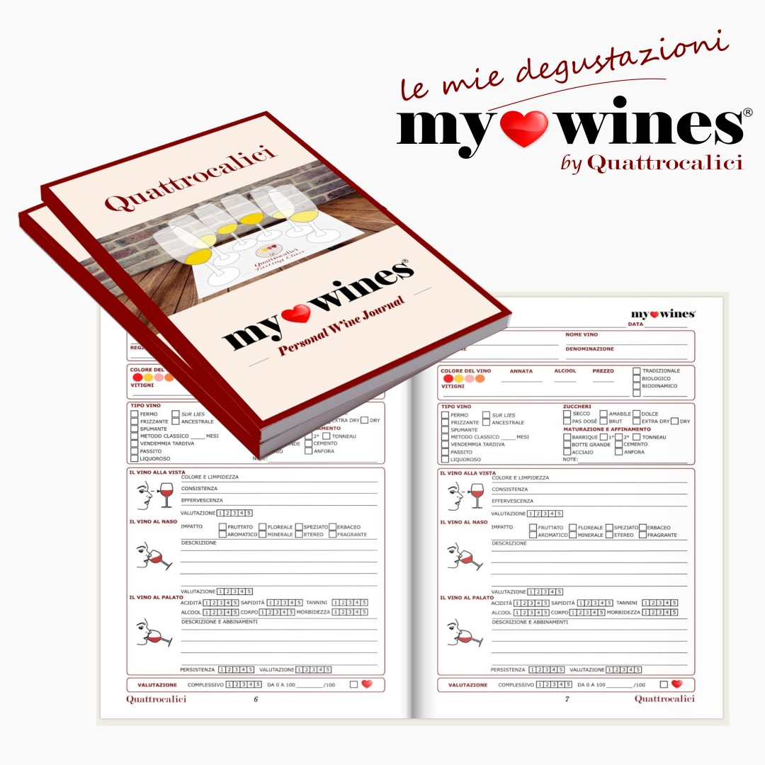 Quaderno di degustazione vini