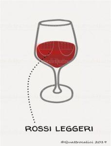 I vini rossi leggeri