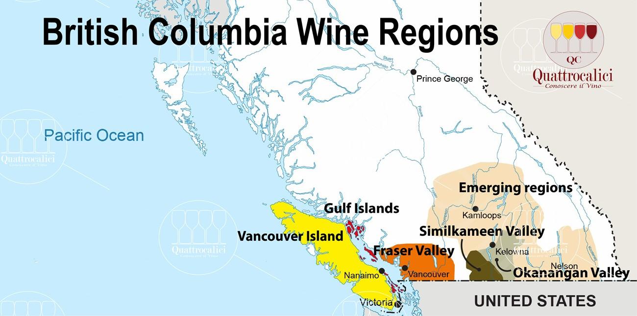 British Columbia zone vino