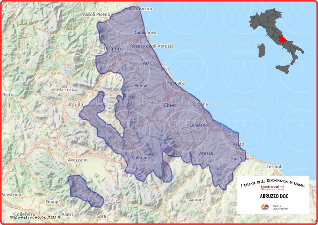 Abruzzo doc cartina