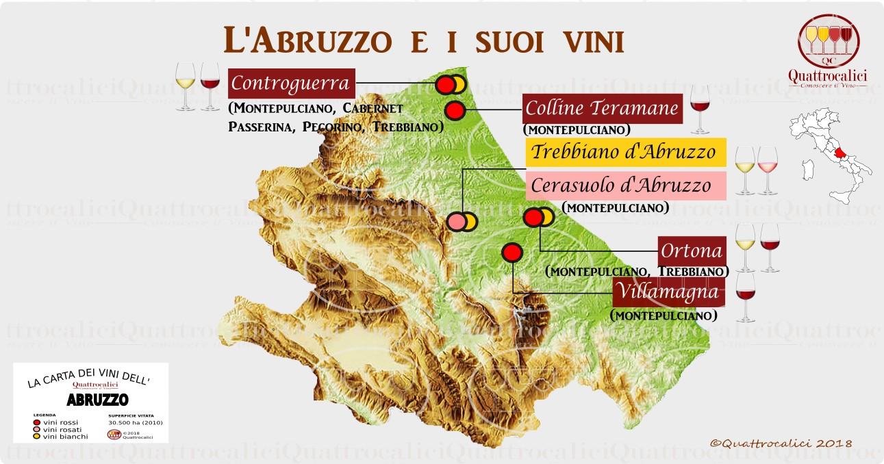 Cartina Della Regione Abruzzo.Abruzzo Quattrocalici Le Regioni Del Vino