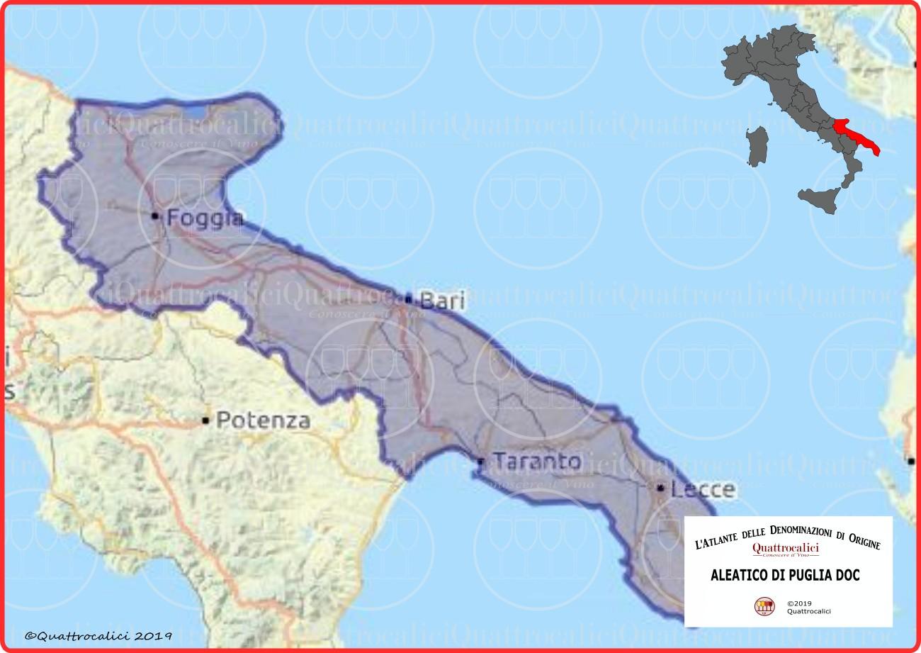 Aleatico di Puglia DOC cartina