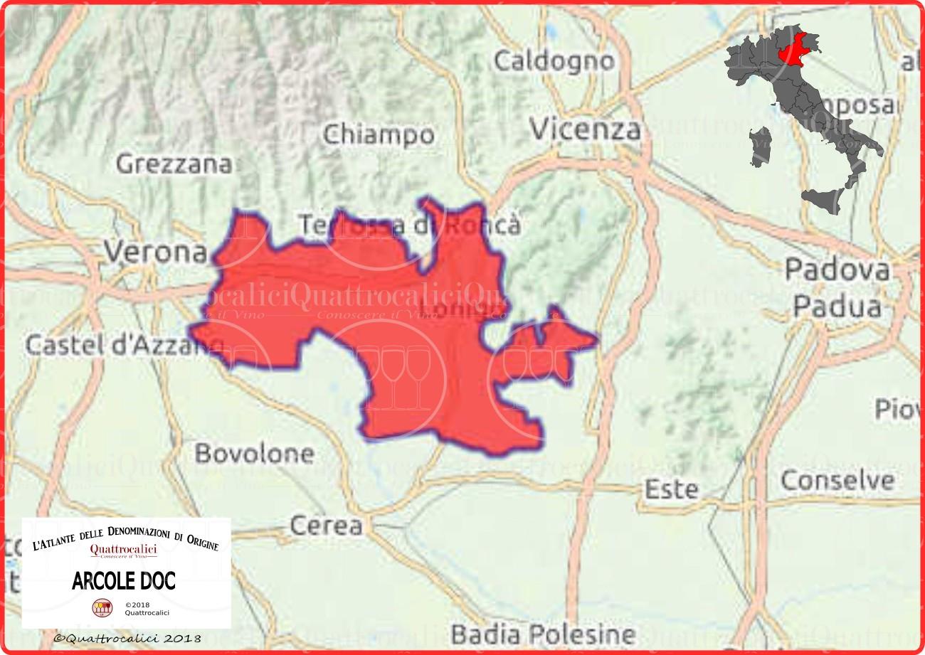 Cartina Arcole DOC