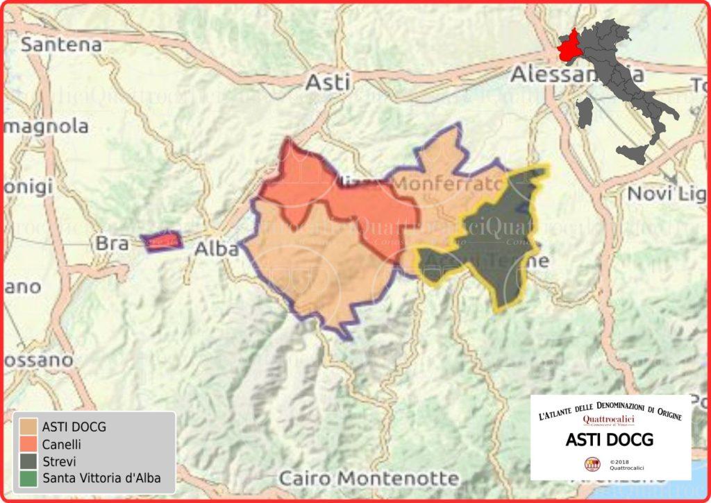 Cartina Asti DOCG