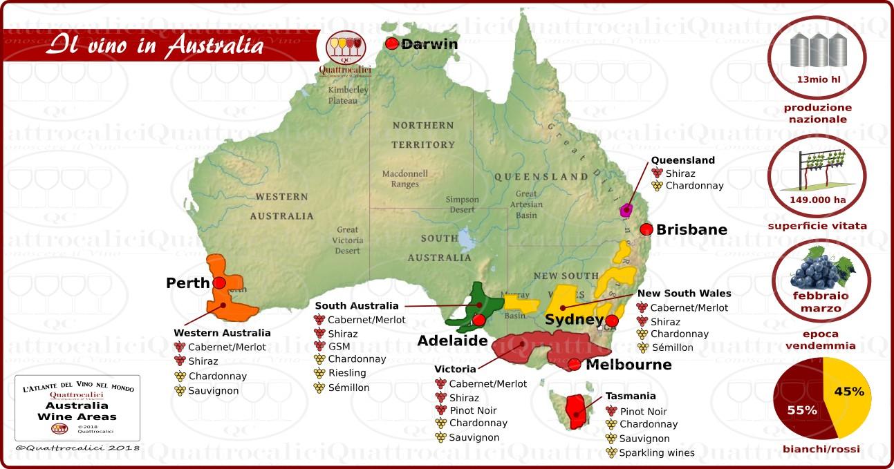 il vino in australia