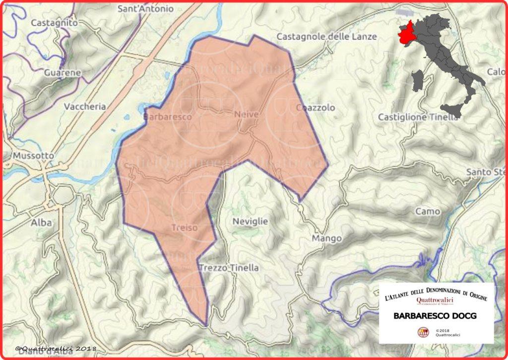 Cartina Barbaresco DOCG