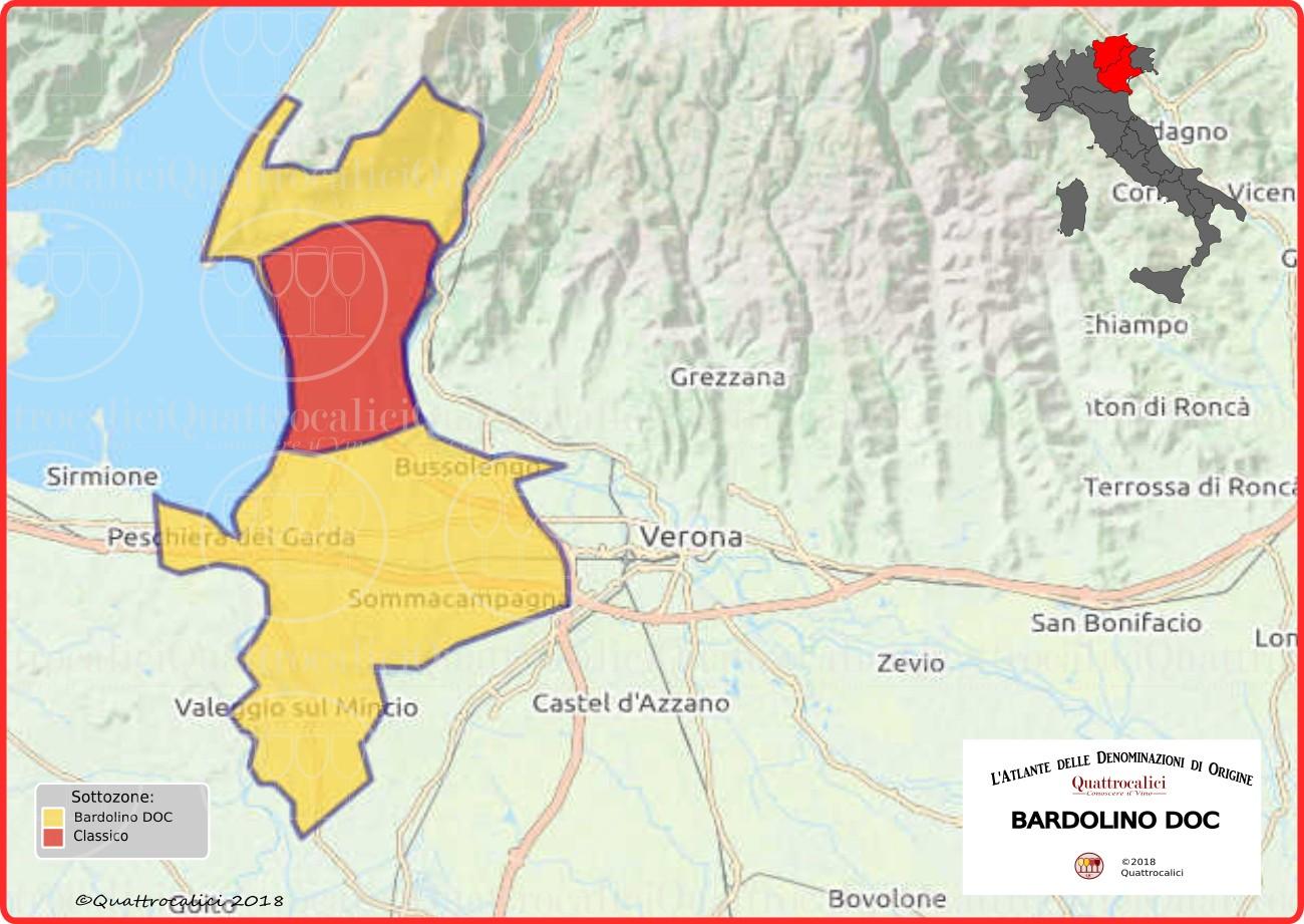 Cartina Bardolino DOC