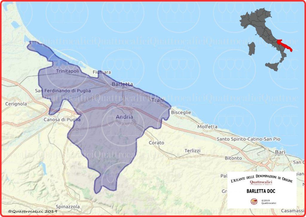 Barletta DOC cartina