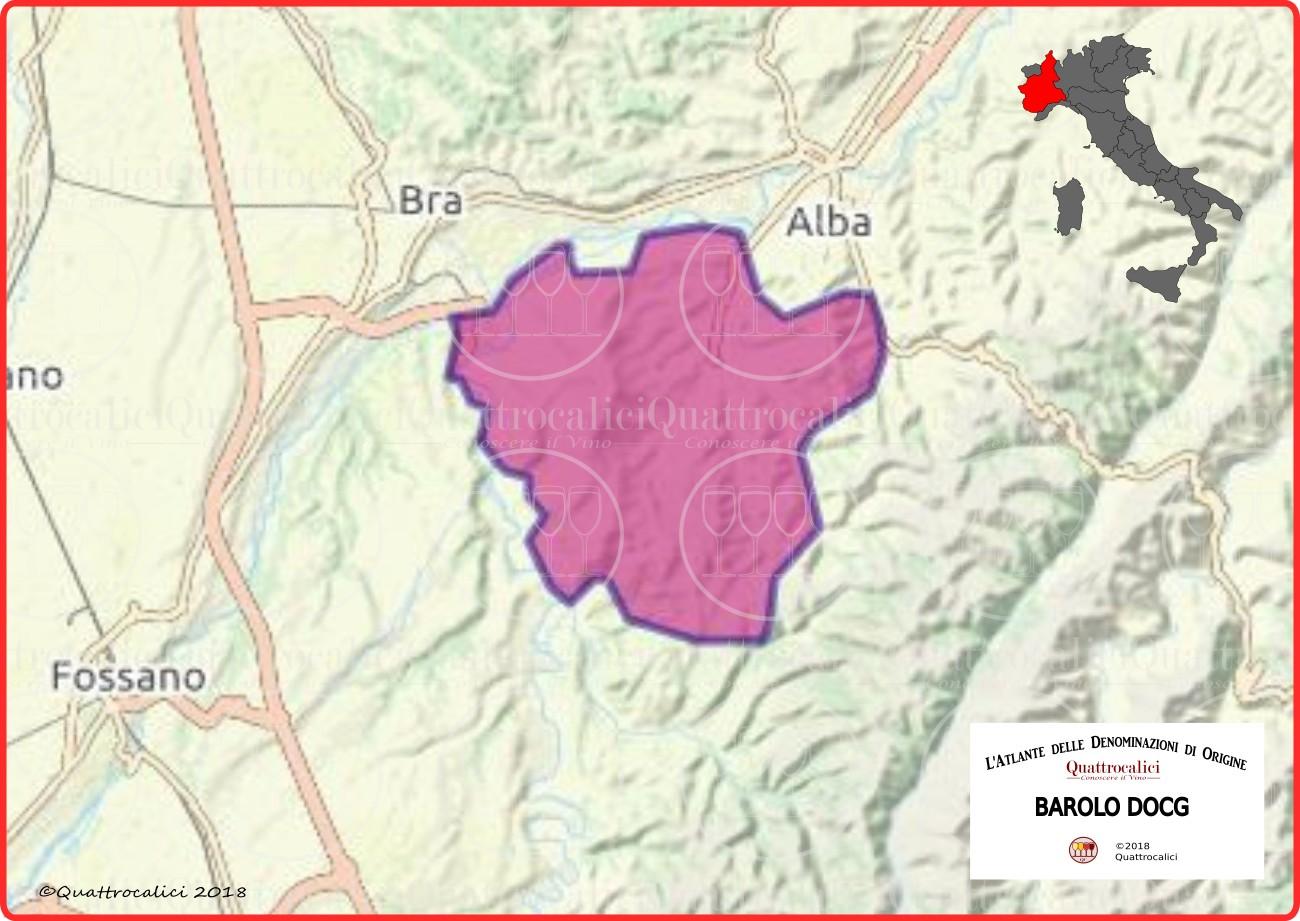 Cartina Barolo DOCG