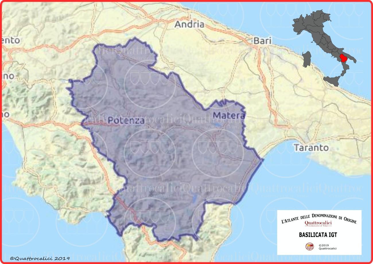 Basilicata IGT cartina