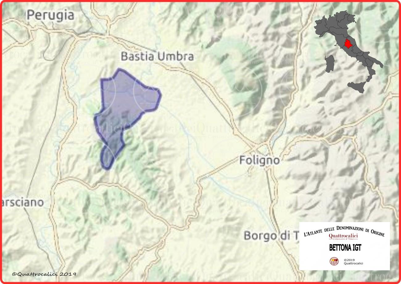 Cartina Bettona IGT