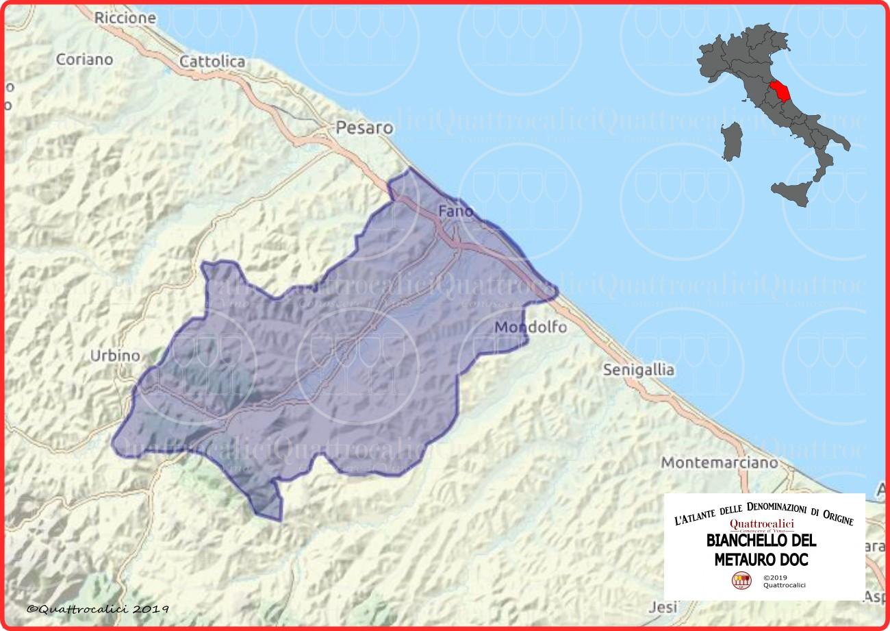 cartina bianchello del metauro doc