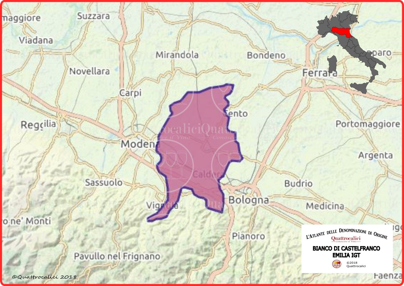 bianco di castelfranco emilia igt cartina