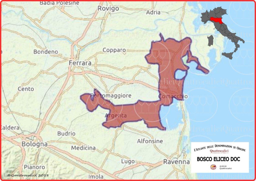 cartina bosco eliceo doc