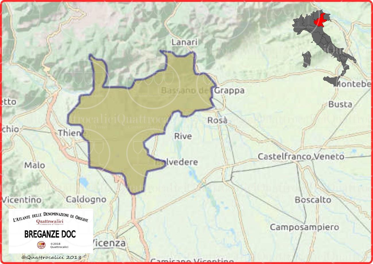 Cartina Breganze DOC