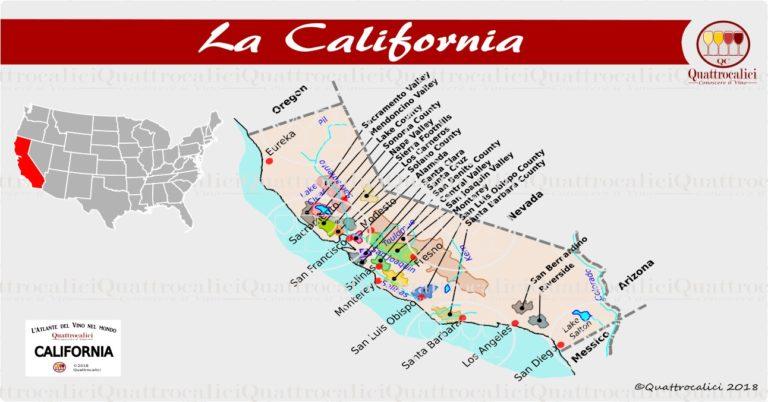 La california e il vino