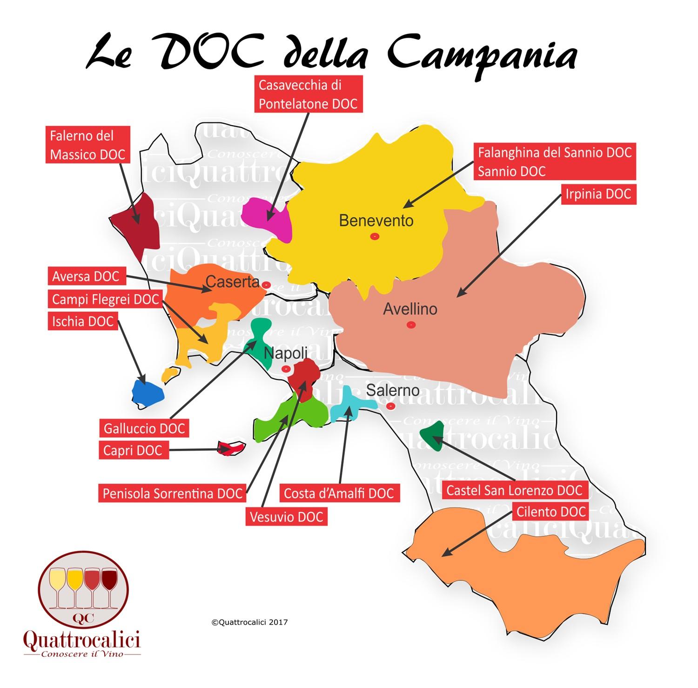 campania doc cartina