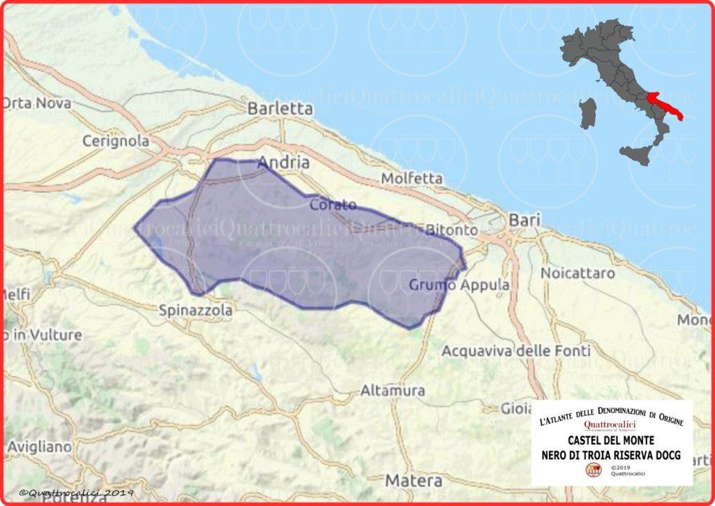 Castel del Monte Nero di Troia Riserva DOCG Cartina