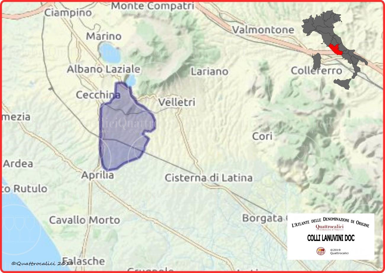 Colli Lanuvini DOC Cartina Denominazione