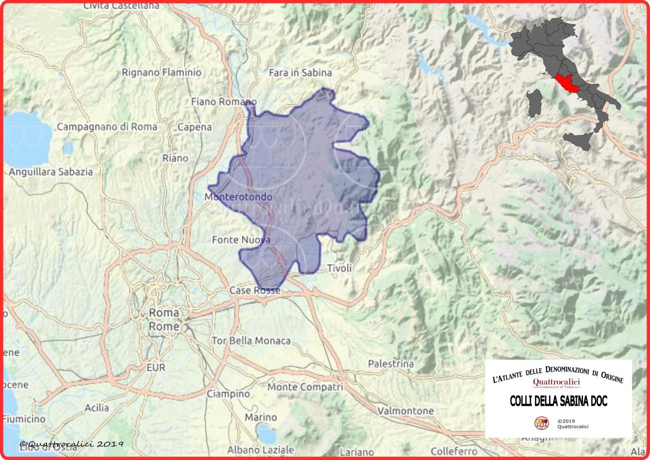 Colli della Sabina DOC Cartina Denominazione