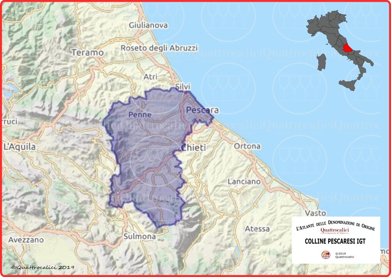 Colline Pescaresi IGT Cartina