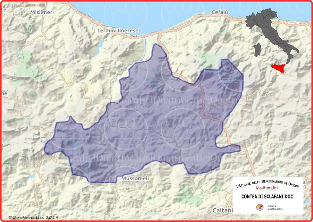 contea di sclafani doc cartina
