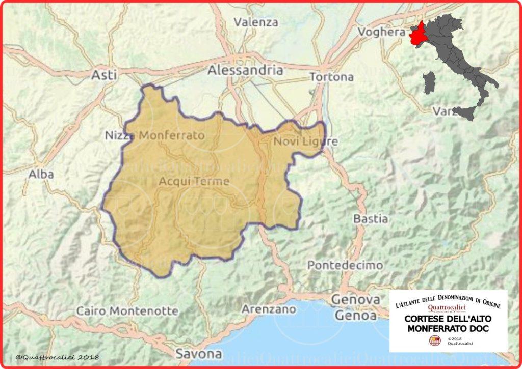 cartina cortese dell'alto monferrato doc